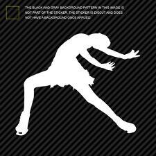 (2x) Figure Skater Sticker Die Cut Decal Self Adhesive skating female girl #1