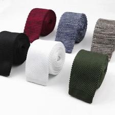 Fashion Men Tie Knit Knitted Ties Necktie Male Solid Slim Skinny Narrow Necktie