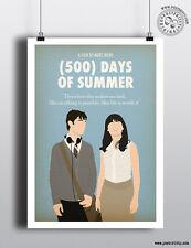 500 Days of Summer-Minimaliste Movie Poster posteritty Minimal Imprimer Art romcom
