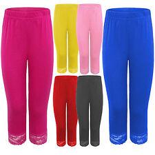 NEUF femmes grandes tailles 3/4 bordure en dentelle Legging 12-26