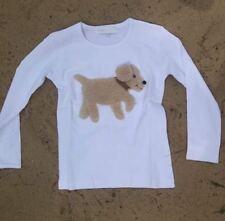 ZIEGFELD Kids Shirt 3 D Hund Bobby mit Lederhalsband Langarm Gr.86 - 128 NEU