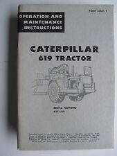CATERPILLAR 619 TRACTOR  OPERATION & MAINTENANCE INSTRUCTIONS  62F1 - UP