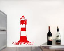 Wandtattoo Leuchtturm 'Roter Sand' Wandaufkleber bis XXL 25 Farben 10 Größen