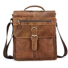 Men's Vintage Genuine Cow Leather Shoulder Messenger Bag Briefcase Handbag M