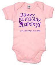 "Funny Baby Bodysuit ""Happy Birthday Mummy... dad forgot the card"" Babygrow Gift"