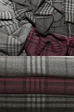 FRAAS Damen Schal Fransen Scarf Damenschal kariert dunkelgrau hellgrau 180x30cm