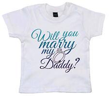 "PROPOSTA DI MATRIMONIO T-SHIRT "" Will You Marry My Daddy ?"" BAMBINO FIDANZAMENTO"
