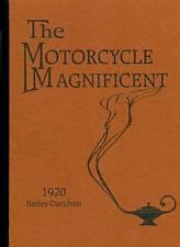 "1920 HARLEY DAVIDSON CATALOG-"" MOTORCYCLE MAGNIFICENT"""