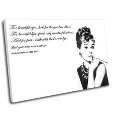 Audrey Hepburn Canvas Wall Art Print Framed Picture PREMIUM QUALITY-