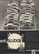 PUBLICITE ADVERTISING  1961 Anti sludge les huiles CALTEX 5 Star