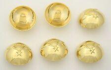 6 bottoni in metallo serie aviazione - PARACADUTE - parachute buttons