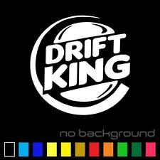 Drift King Sticker Vinyl Decal - Turbo Racing Euro Fast Boost Jdm Car Window