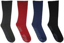 RJM Mens Non Slip Slipper Socks with Grips