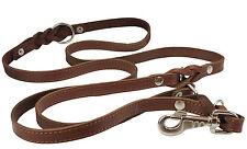 """6 Way Schutzhund Genuine Leather Dog Leash Braided up to 84"""" Large  XLarge"""