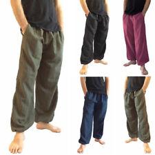 INCERUN 100% Cotton Men Casual Harem Pant Hippie Boho Long Plain Trousers