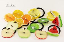 Haargummi Zopfhalter Haarklammer Haarspange Obst Früchte Haarschmuck A099
