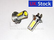 2x H7 Chrisp WHITE 4 HIGH POWER LED STRONGER 6W CAN BUS Fog Car Bulbs Xenon Look