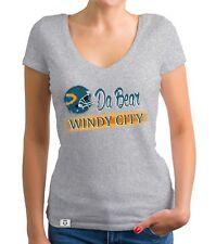 Damen T-Shirt V-Ausschnitt - Da Bear - Windy City - Football Trikot Fan Play-Off