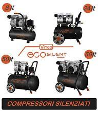 Compressore a secco con tecnologia silenziata EcoSilent Vinco 8 - 24 - 50 litri