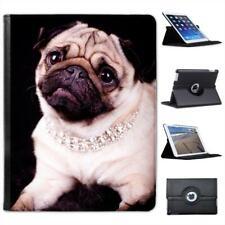 Princess Pug Dog Wearing Diamond Necklace Folio Leather Case For iPad 2, 3 & 4