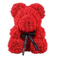 Rose Ours Art Craft Ourson en Peluche Ours avec Roses Romantique Rouge 24*18cm