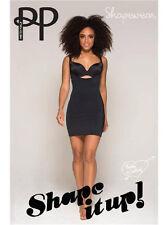 Pretty Polly Shape It Up Bodydress Shapewear Solution plus plat noir ou nue