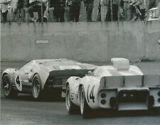 Vintage 8 X 10 1967 Daytona 24 Hours Donohue / Revson Ford Mk II & Chaparral 2D