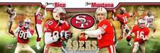 Joe Montana & Jerry Rice San Francisco 49ers Photoramic #1016