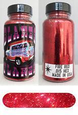 Blakes Metal Flake .015 Fire Red Bright Hot Rod custom automotive 2oz jar