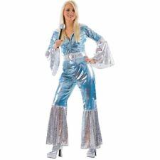 Ladies Waterloo 1970s Costume Pop Jumpsuit Hippy Disco Womens Fancy Dress Outfit