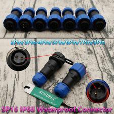 SP16 IP68 Waterproof 2 /3 /4 /5 /6 /7 /9Pin Aviation Plug and Socket Connector