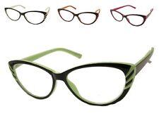 Reading Glasses Womens Cat Eye Clear Lens +1.00 - +3.00
