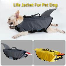 Dog Life Jacket Large Pet Float Aquatic Coat Lifesaver Safety Vest Duck / Shark