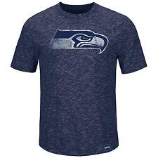 NFL Football t-shirt seattle seahawks Logo hyper slub de Majestic