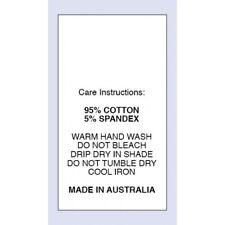 95% Cotton 5 % Spandex Sewing Washing Care Label on Nylon Taffeta 5 Packs Sizes