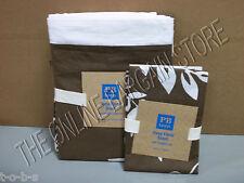 Pottery Barn PB Teen Hana Floral Bed Duvet Cover Twin coffee brown 1 Sham