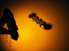 COPPIA LUCI TARGA 6 LED SILURO 39mm ARANCIONE ORANGE KY