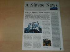 38965) Mercedes A-Klasse W168 News Prospekt 06/1997