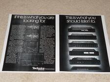 Technics Pro Series 2 Pg Ad, Very Rare! ST-9030, SU-9070 DC, SE-9060, SH-9010
