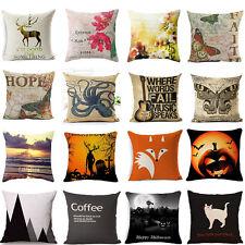 Lovely Cute Butterflies Cotton Linen Pillow Case Sofa  Cushion Cover Home Decor