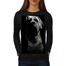Boxer Dog Face Art Animal Women Long Sleeve T-shirt NEW | Wellcoda