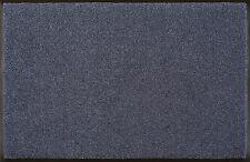 Fußmatte WMK wash + dry Monocolour Trend Steel Blue Stahlblau in 7 Größen
