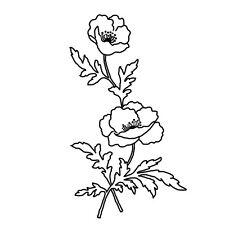 Sticker Fleur 30x17cm à 50x29cm, Tailles et Coloris Divers (FLEUR001)