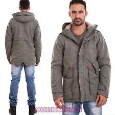 veste homme Parka veste long à capuche écho fourrure poches neuf M-9617