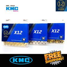 KMC X12 12-Speed Silver / Gold / gold black links Ti MTB Ketten 126L fit Shimano