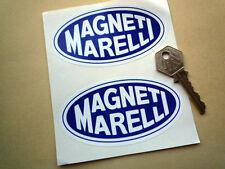 "MAGNETI MARELLI Blu Oval 4 ""PAIR RACING ADESIVI AUTO RALLY F1 GP BICI CORSA"