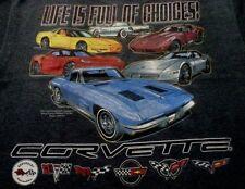 CORVETTE C6 T-SHIRT BLUE LIFE IS FULL OF CHOICES C1-C6 VETTES S-XL22.992X,3X NEW