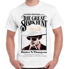 Hunter S Thompson The Great Shark Hunt Retro T Shirt 90
