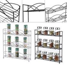 3 Tier Kitchen Storage Cupboard Table Top Free Standing Spice Rack Jar Holder