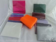 "< New-New >Shiny Pocket Hankie-9"" x 9"" = 23cm x 23cm-Squares> P&P 2UK >1st Class"